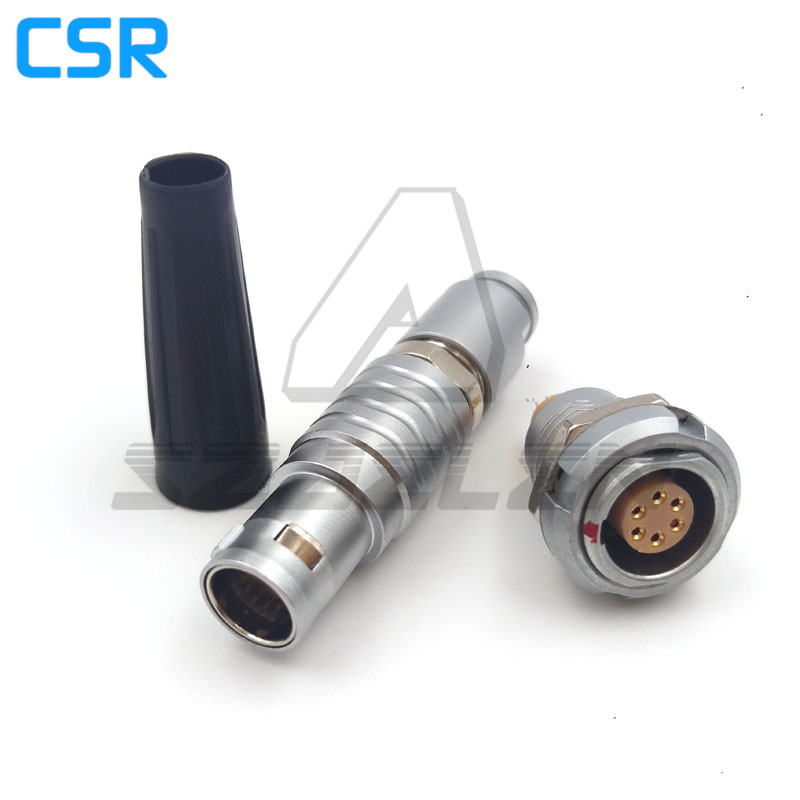 SZJELEN connector 1B series 6pin Plug and sockets ,FGG.1B.306.CLAD/ECG.1B.306.CLL Medical connector, camera power plug