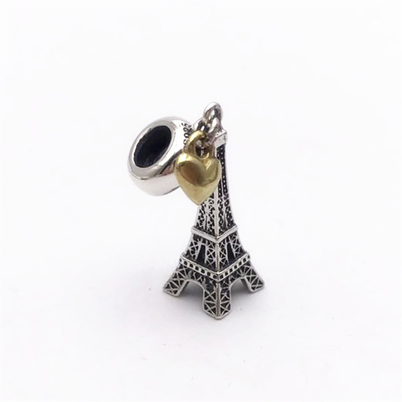 1e5458484 ZMZY Vintage Beads 925 Sterling Silver Charms Eiffel Tower Pendants Fit  Pandora Bracelet Women Jewelry Gift -in Beads from Jewelry & Accessories on  ...