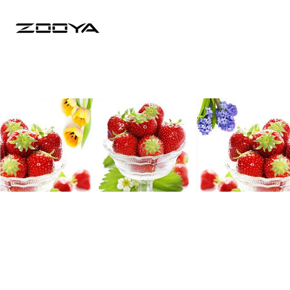 ③Zooya diamante pintura fresas multi imágenes diamante Bordado ...