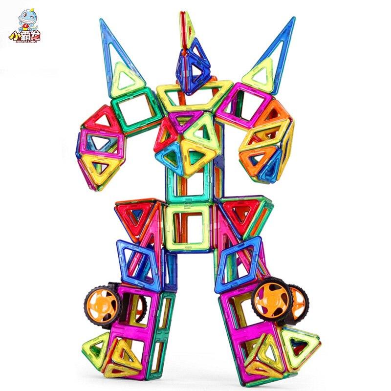 Magnetic Blocks 1pcs Big Size DIY Building Single Bricks Part Accessory Construct Magnet Designer Educational Toys For Kids Gift