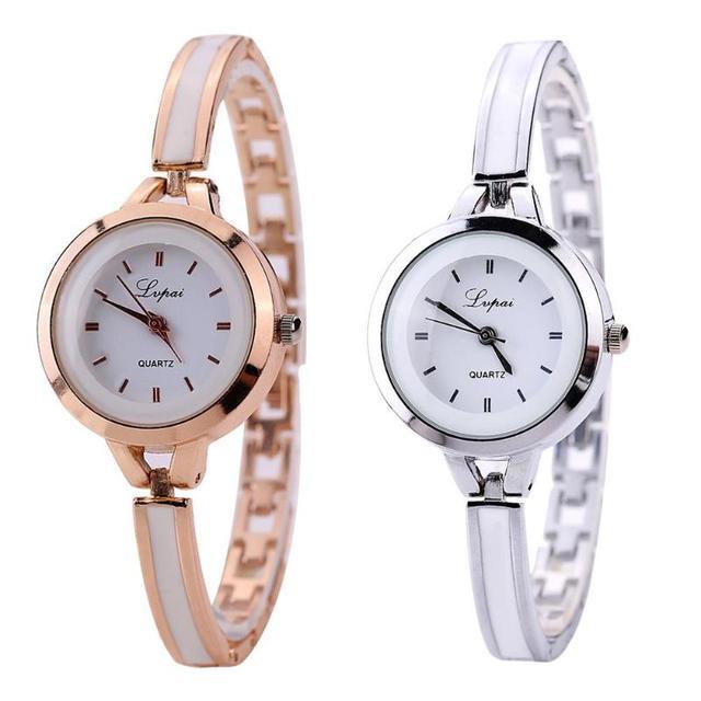 Lvpai Slim Alloy Strap Quartz Watch Women Round Dial Analog Wristwatch Gift Watches Top Brand Bracelet Clock Relogio Feminino