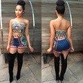 2016 Новых Прибытие sexy традиционной африканской печати Dashiki Наборы короткие топы и брюки Dashiki Две Пьесы Женщины Африканская Одежда