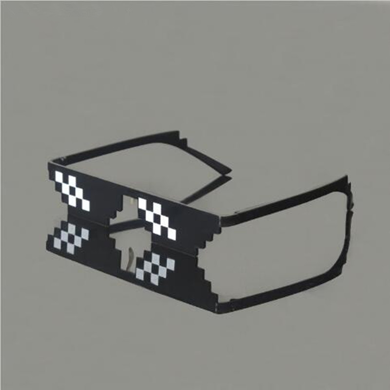 Fashion DEAL WITH IT Glasses Mosaic Sun Glasses Minecraft Thug Life  Sunglasses Women Men Around The World 154e21042e4e