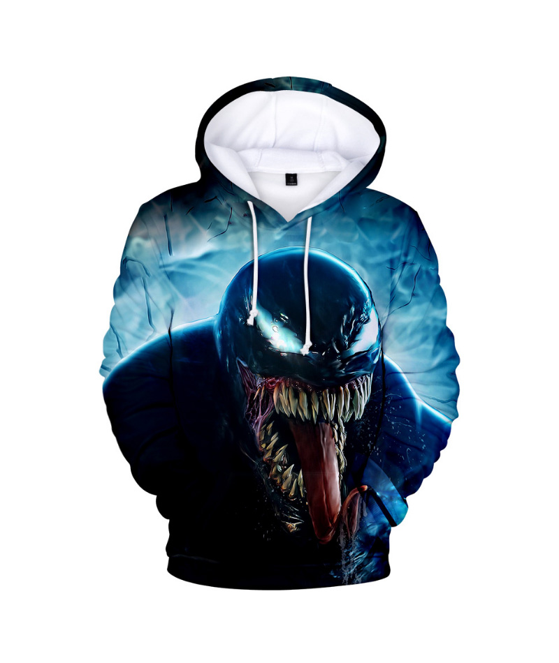 Comic Venom Hoodie Sweatshirts Men Superhero Anime Cool Black Autumn Winter Tops Plus Velvet Warm Hoody Couple Hip Hop Pullovers (8)