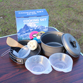 1-3 Человек Открытый Набор Посуды Кемпинг Кастрюли Пан Чаша Шпатель Set DS200