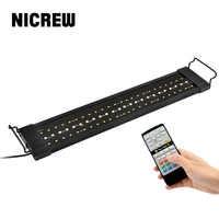 NICREW Lamp for Aquarium Fishing LED Lighting 24/7 Hour Automated with Controller Fish Tank Light for Aquarium 110V-240V 30-72cm