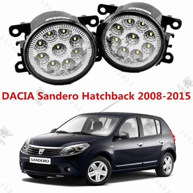 Для DACIA SANDERO 2008-2015 для переднего бампера высокая яркость LED Противотуманные Фары лампы лампы стайлинга Автомобилей белый 1 компл.