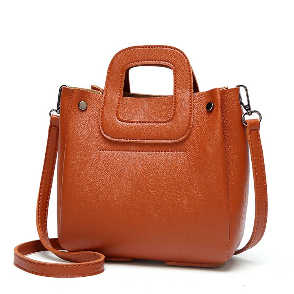 CONEED Fashion Women Handbag 2019 New Solid Color Bucket Type Crossbody Bag Handbag High Qualited Leather Shoulder Bag Oc17 handbag