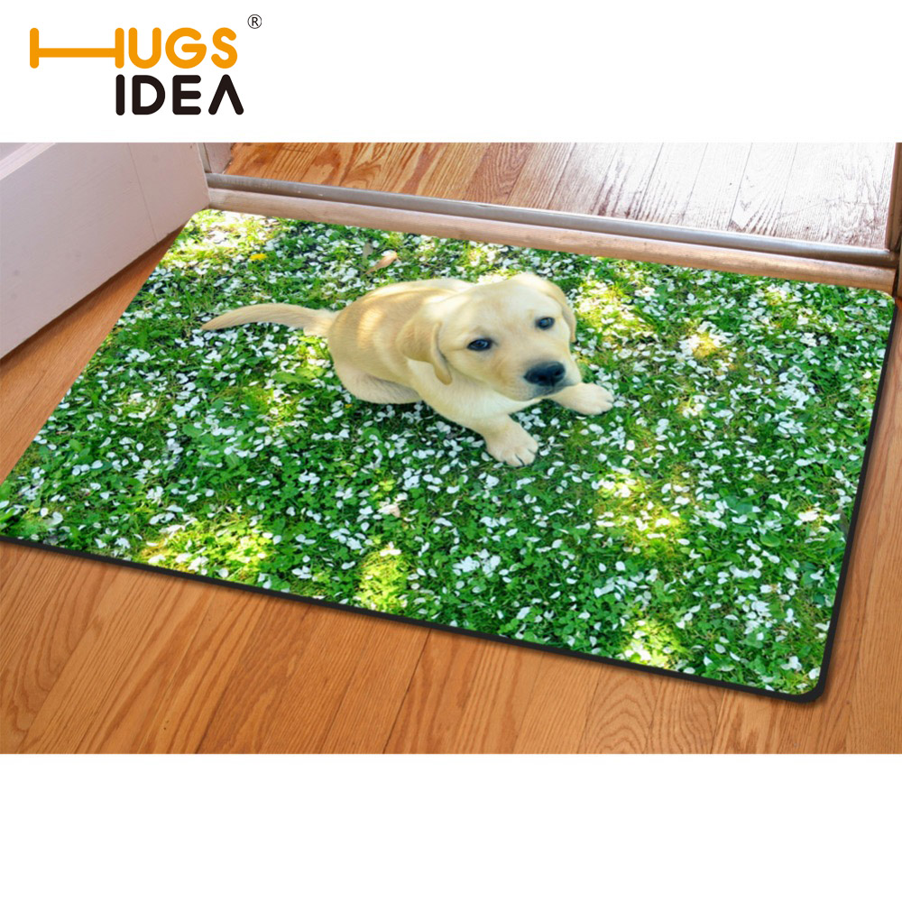 Rectangle Funny Unique 3D Animal Carpet Designer Looking Up Puppies Rug For Living Room Flighty Pets Kids Bedroom Carpets & Rugs
