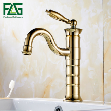 Free shipping Golden Brass single handle Bathroom Basin Faucet tap toilet water faucet. hot&cold basin sink Mixer Tap free shipping golden polished solid brass bathroom faucet single handle countertop mixer tap