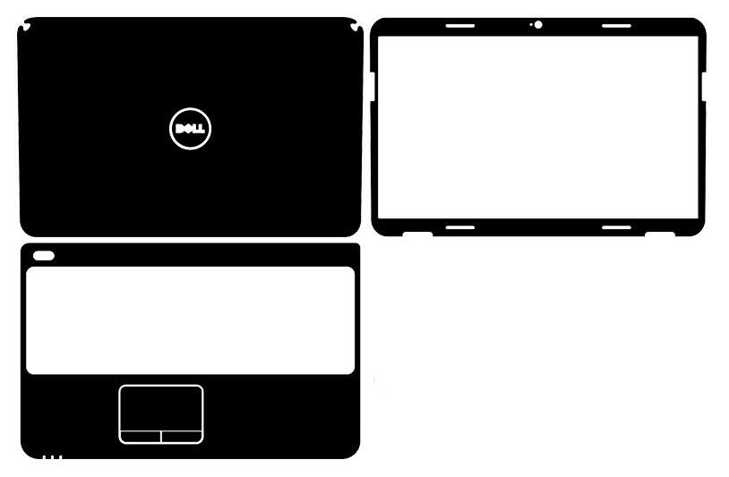"""Laptop Carbon fiber Vinyl Skin Sticker Cover For DELL inspiron N5010 M5010 15R 15.6"""" old version