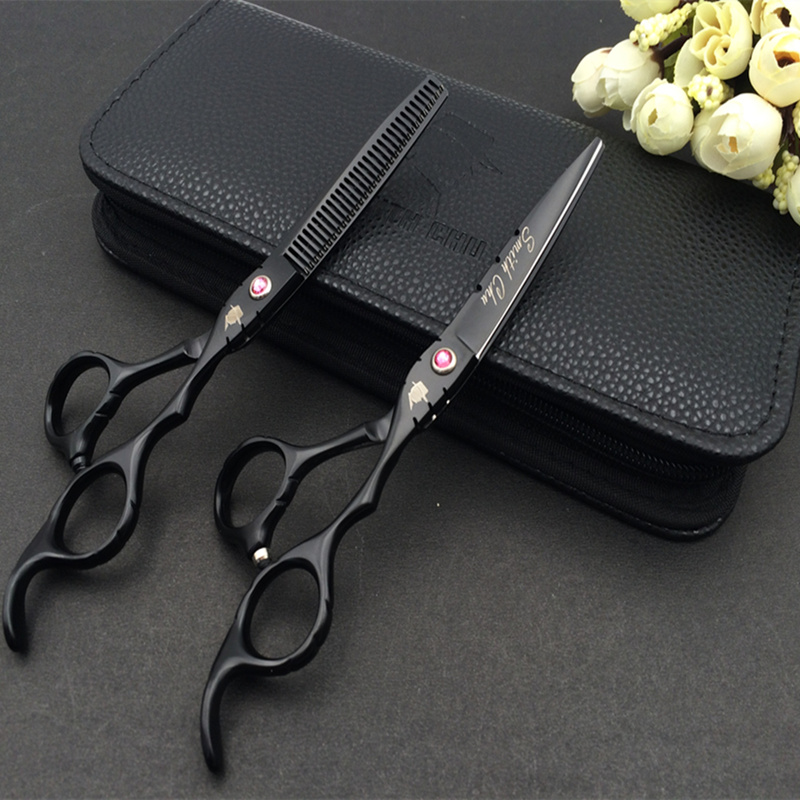 High quality SMITH CHU 6.0 Professional hair scissors hairdressing scissors barber scissors hair cutting shears thinning