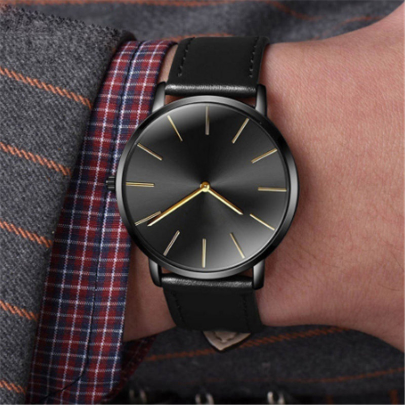 <font><b>Men's</b></font> Women <font><b>Watches</b></font> Betreasure <font><b>Ultra</b></font> <font><b>Thin</b></font> <font><b>Luxury</b></font> Leather Casual Quartz Wristwatch <font><b>Mens</b></font> moda mujer <font><b>2019</b></font> heren horloge image