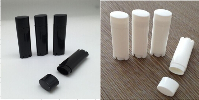 US $195 0 |1000pcs/lot 4 5g Empty Oval Lip Balm Tubes Deodorant Containers  white+ black-in Refillable Bottles from Beauty & Health on Aliexpress com |