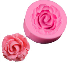 TTLIFE Rose Flower Bloom Floral Silicone Fondant Soap 3D Cake Mold Cupcake Jelly Candy Chocolate Decoration Baking Tool Moulds