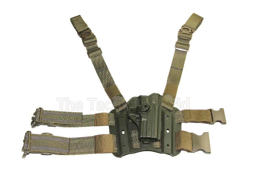 Tactical Hunting Holster Sig Sauer PRO SP2022 SP220 P09 Drop Leg Đùi Bao Da Quân Airsoft Paintball Bắn Gun Phụ Kiện