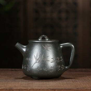 on sale wholesale Zhou Jiaming undressed ore chlorite pottery carved kaolinite ladle pot of new product on the market
