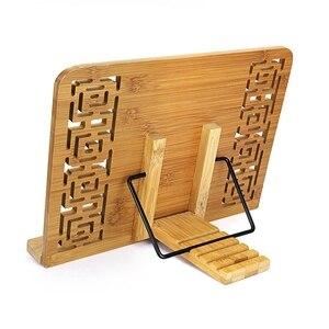 Image 4 - HOT Reading Rest Cookbook Stand Holder, Middle Size, Foldable Tablet Cook Book Stand Bookrest with Adjustable Backing & Elegan