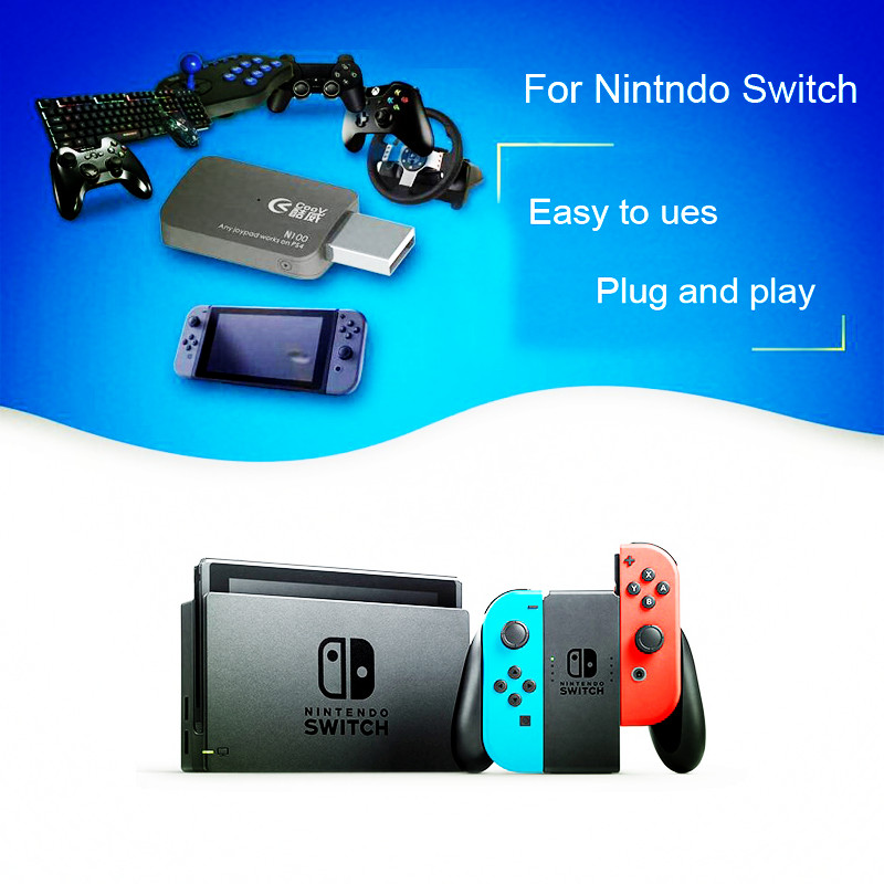 USB Adapter Accessories for Nintend Switch Controller Handle Gamepad Joystick With OTG Support PS4 PS3 Xbox