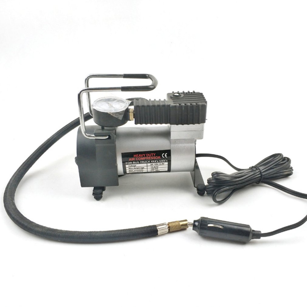 150W Air Compressor Metal DC12V 150 PSI Electric Tire Tyre Inflator Pump for Auto Bicycles Motorcycles With LED Flashlight Hot