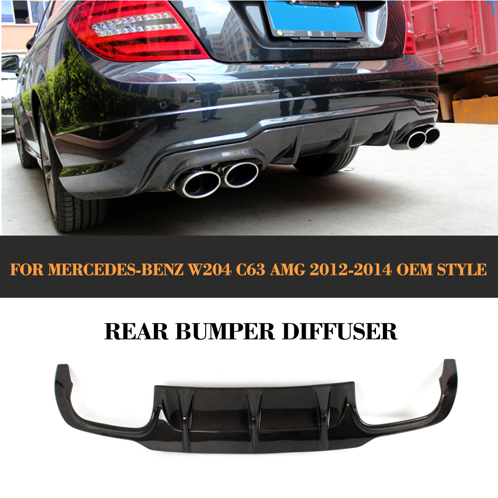 For W204 carbon fiber <font><b>rear</b></font> <font><b>diffuser</b></font> for Mercedes Benz W204 C63 AMG <font><b>C300</b></font> Sport 2012 2013 2014 image