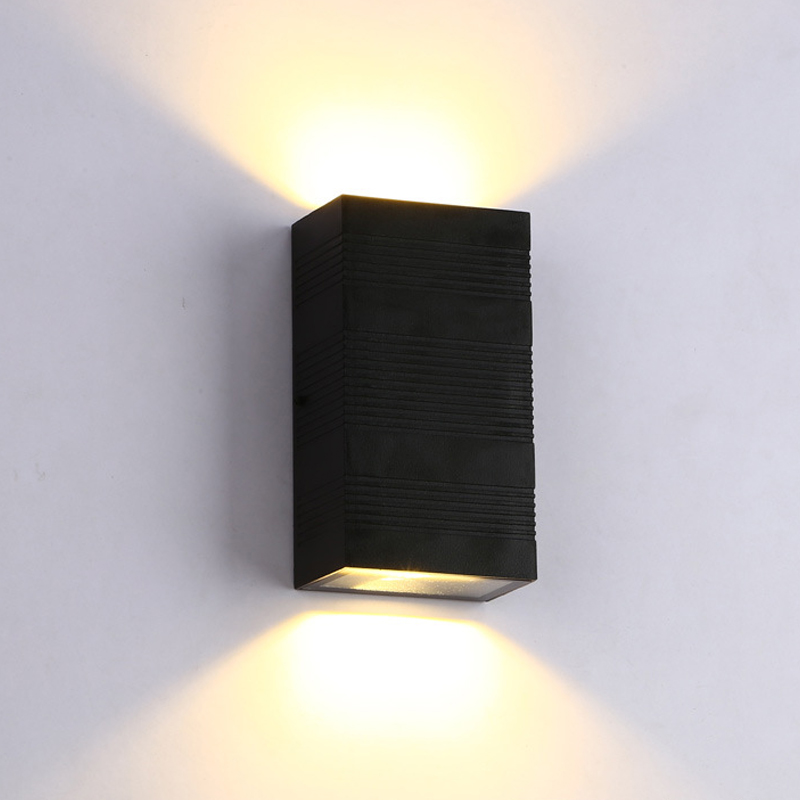 цена на Led Outdoor Wall Lamp IP67 ASWAY Surface Mounted Outdoor Cube Led Wall light,Aluminum White/Black Up and Down Wall LampY-D127