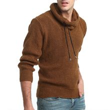 2019 New Brand Casual Sweater Turtleneck Thicker Thick Wool Slim Fit Knitting Mens Sweaters And Pullovers Men Pullover XXL