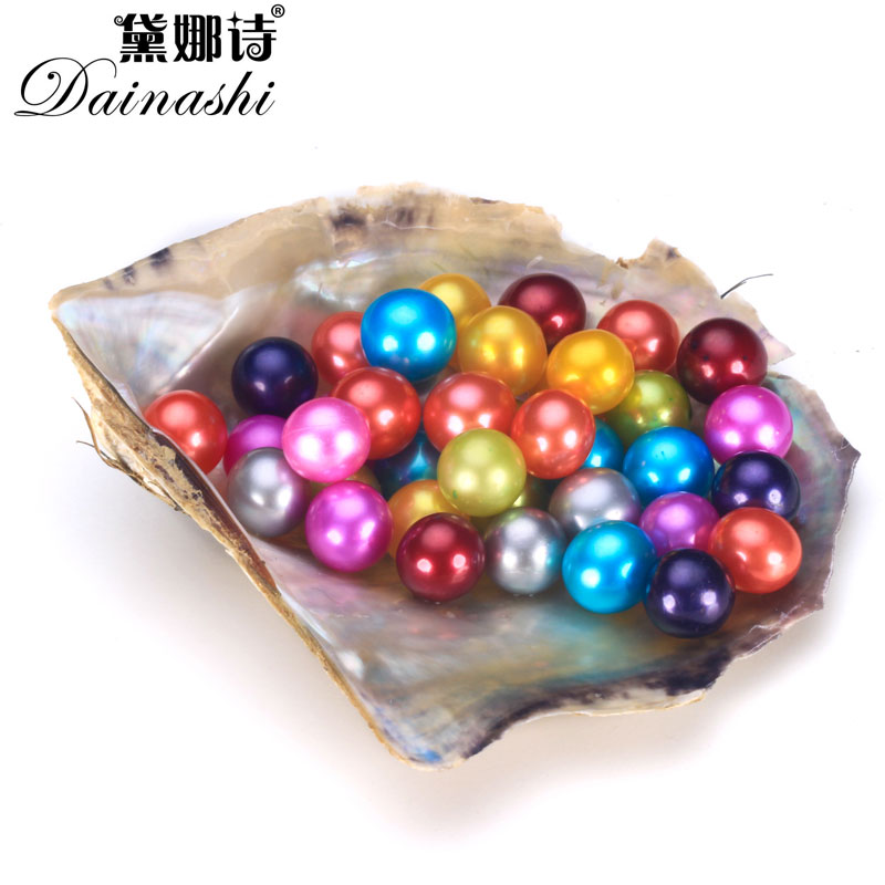 30pcs Lot Round Colorful Loose Pearl Akoya Oyster Loose Dyed Pearls DIY Jewelry Making Genuine Beads