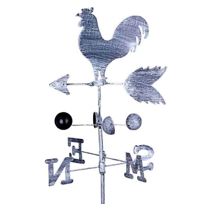 120 см Винтаж петух флюгер металла железа ветер Скорость Spinner направлении индикатор украшение садового орнамента Патио двор