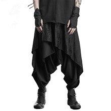 9cdf1a2ef54c35 Donkere zwarte negen-punt rok broek Harlan tij mannen alternatieve  persoonlijkheid haar stylist kleding grote broek
