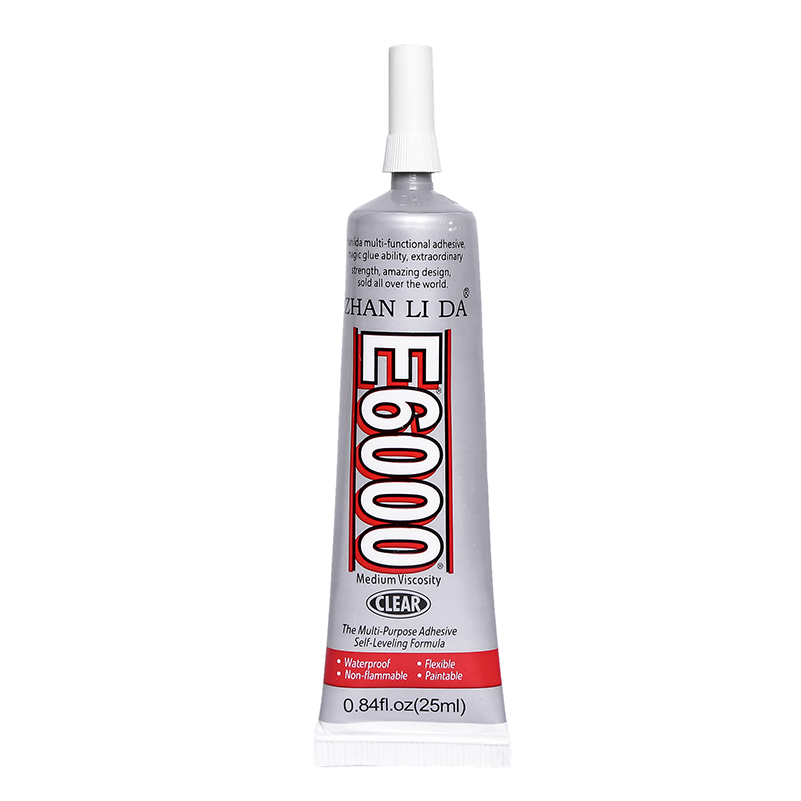 25ML E6000 Liquid Super Glue E-6000 Cyanoacrylate Rubber Metal Leather Textile Adhesive Bts Craft Epoxy Resin Wood Transparent