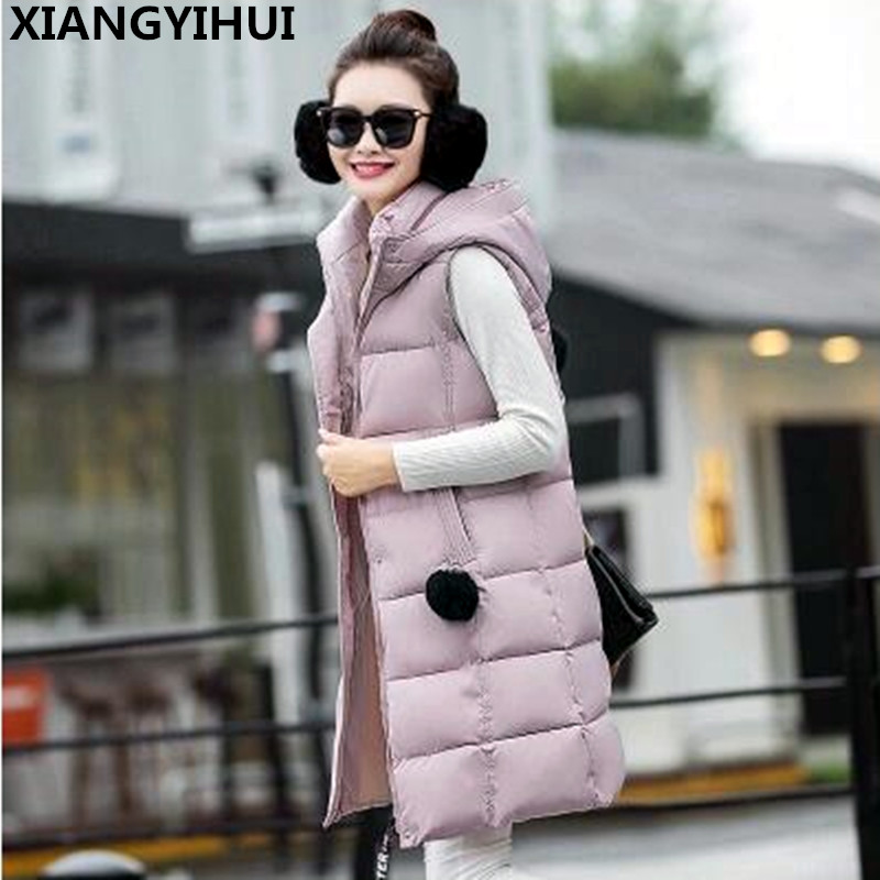 Women Winter Coat vest Warm Parkas plus size Overcoat High Quality Quilting Add wool vest 2017 New Winter Collection07