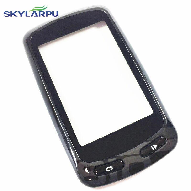 Skylarpu Capacitivo Tela Sensível Ao Toque para Garmin Edge 810 Computador de Bicicleta GPS digitador da tela de Toque do painel (com moldura Preta)