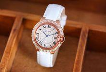 Relojes de pulsera de Cuarzo Relojes de Alta Calidad Escala Romana Relojes de Lujo Lleno de diamantes de Imitación de Las Mujeres de Cuero Genuino de Color Opcional