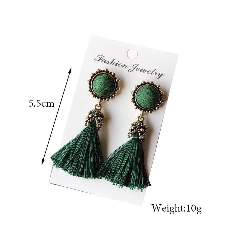 Women Fashion Jewelry Vintage Velvet Ball Statement Fringed Drop Earring Female Jewellery ,Ear Studs gray a 2