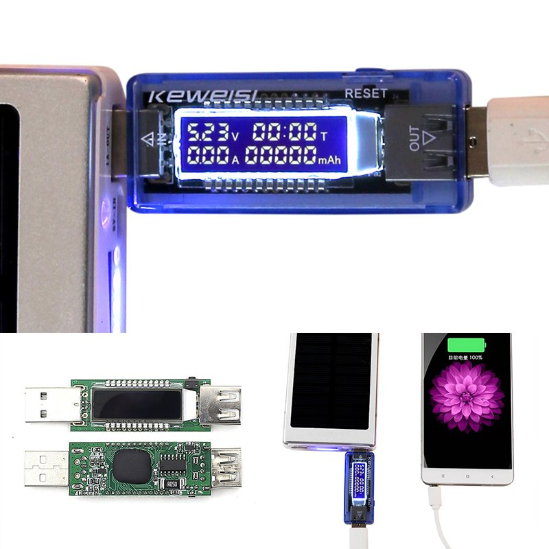 Hot 3 in 1 Battery Tester Voltage Current Detector Mobile Power Voltage Current Meter USB Charger