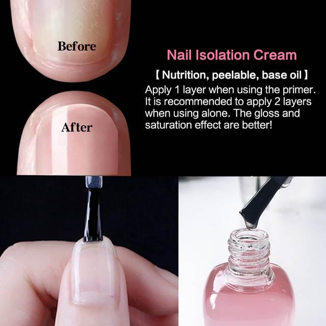 Base Coat Primer Gel Nail Polish Set Liquid Top Coat Peel Off Nail Care Oil  Nails Tools 8ml Brightening New in Nail Art Design