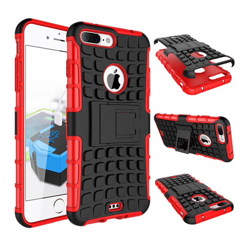 For Iphone 5S SE 6S 7 Plus Coque Rugged Armor Case Silicon Cover Shockproof Hard Cases coque For ipod touch5 6 case Silicone