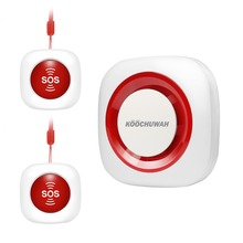 KOOCHUWAH SOS Panic Button Kit GSM Alarm Auto Call & Send SMS SOS Emergency Call Panic Alarm For Elderly/Invalids/Seniors Alarm сигнализатор уровня alta alarm kit 4