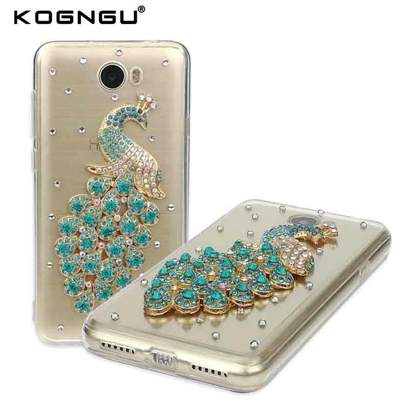 Kogngu Butterflies Perfume for Huawei Y3 II Case Bling Rhinestone Silicone Bumper Case for Huawei Y5 II Y7 Prime Y3 2017/Y5 2017