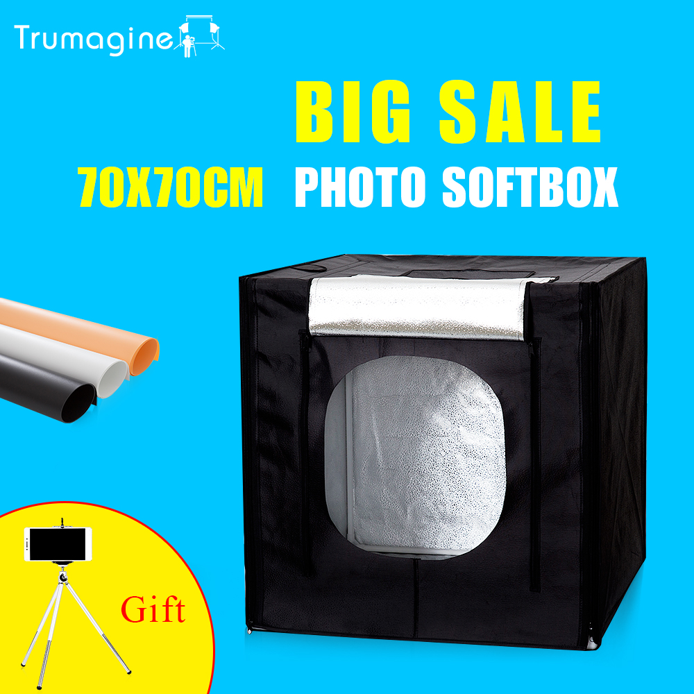 TRUMAGINE 70 70CM LED Photo Studio Photography Softbox Light Shooting Tent Soft Box Kit For Camera
