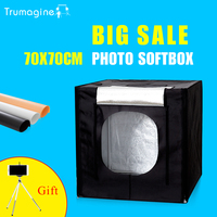 Trumagine 70*70*70センチledフォトスタジオソフトボックスライトボックス撮影ライトテント写真ソフトボックスキット用カメラ一