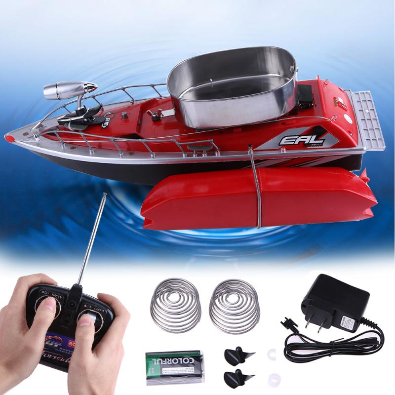 Mini Fishing Boat 300m Electrical Remote Control Bait Boat Fish Finder 5,200mAh With Adjustable Lure Light 1.2KG Max load mini fast electric fishing bait boat 300m remote control 500g lure fish finder feeder boat usb rechargeable 8hours 9600mah