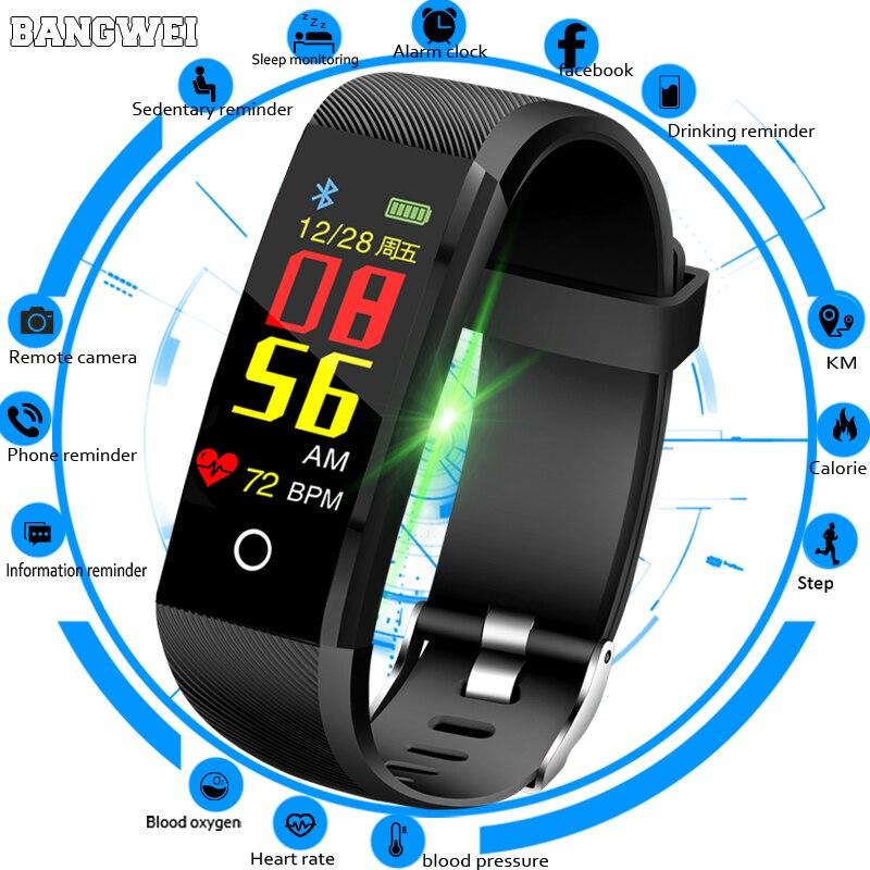 Men's Watches Contemplative New Smartwatch Men Sport Watch Fitness Tracker Pedometer Blood Pressure Heart Rate Monitor Women Led Touch Screen Smart Watch Shrink-Proof