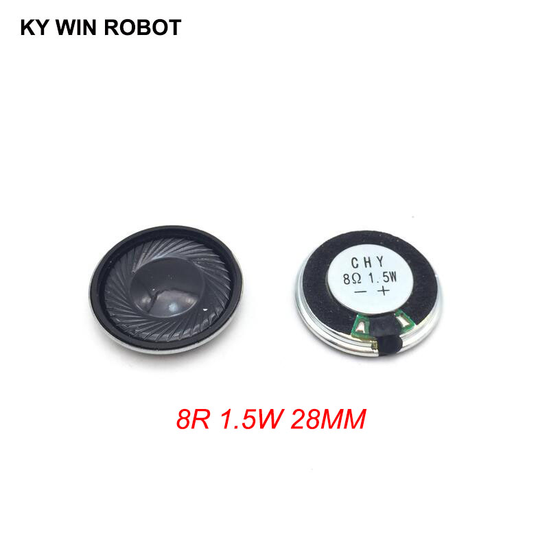 2pcs/lot New Ultra-thin Mini Speaker 8 Ohms 1.5 Watt 1.5W 8R Speaker Diameter 28MM 2.8CM Thickness 4.8MM