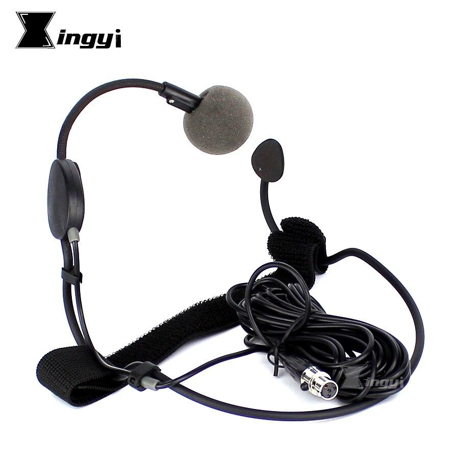 4 Adet 5 m Mini XLR 4 Pin TA4F Vokal Kulaklık mikrofon Profesyonel Dinamik Mikrofon SHURE