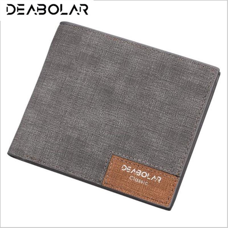 DEABOLAR Brand Wallet Purses Slim Men's Wallets Carteira Masculine Billeteras Porte Monnaie Monedero Male Men Thin Wallets
