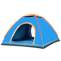 3 4 Person Pop Up Quick Automatic Opening Tent Waterproof Outdoor Camping Tent Fishing Hunting Beach Camping Family Party VK097