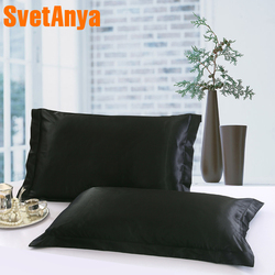 Svetanya (2pc/Lot) Silk Pillowcase Standard Pillow Case pillow Sham Cover 50*70cm 48*74cm 51*66cm 51*91cm 70x70cm