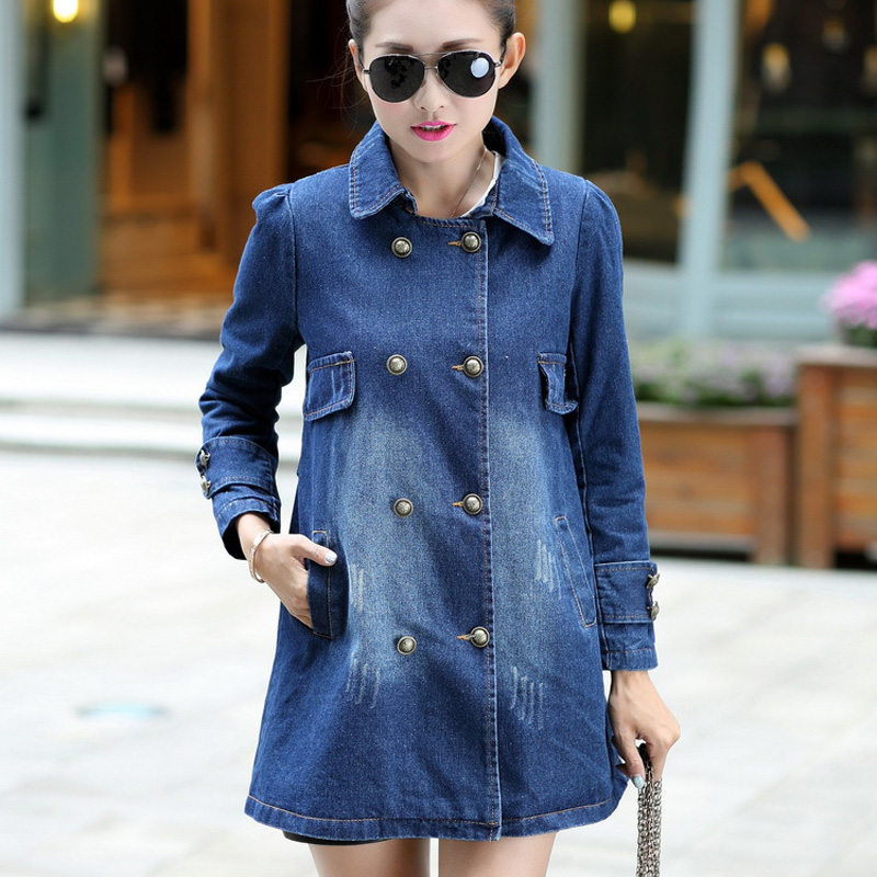 Aliexpress.com : Buy 2016 Spring Oversized Denim Jacket Plus Size ...